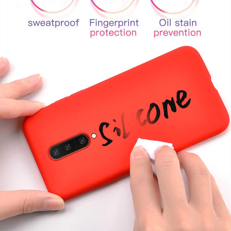 Funda Original de silicona líquida para Oneplus 7T 5 5T 6T 7 Pro funda de goma suave de Color sólido para One Plus 6 6T 7 Pro Capa