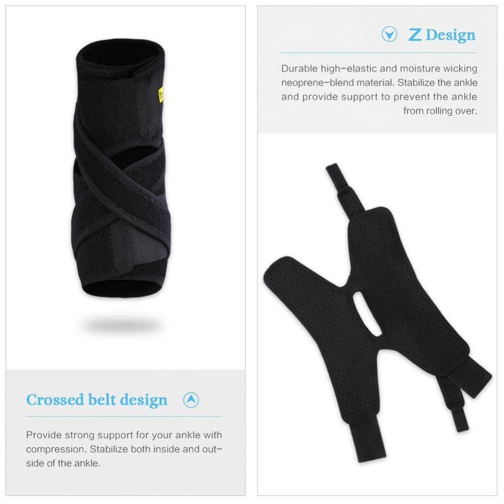 Yosoo調節可能な足首のサポートパッド保護弾性包帯足首ブレースガード捻挫傷害ラップヒールパッド用バスケットボール