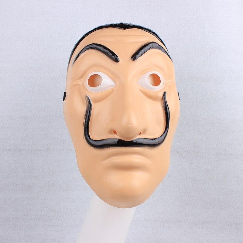 Halloween La Casa De Papel Dali Cosplay Mask For Men Salvador Dali Mask For Carnival Christmas Dali Mask
