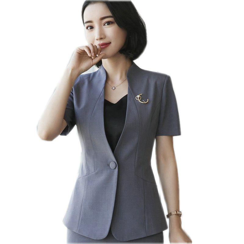Summer new business blazer women fashion formal short ...