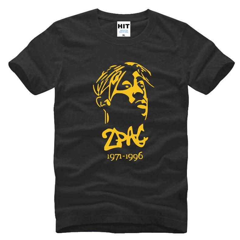 Thug Life Tupac 2Pac hip-hop rock rap hombre hombres camiseta moda 2016  Nuevo manga corta o Masajeadores de cuello algodón camiseta a241da39a36