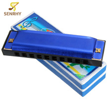 New Arrival 10 Holes 40 Tone C Key Diatonic Harmonica Mouth Organ Harmonica For Musical Instrument Lovers Gift Toy High Quality