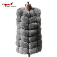 New Fashion Winter Lady Natural Fox Fur Vest Women S Real Genuine Fur Leather Jacket Overcoat