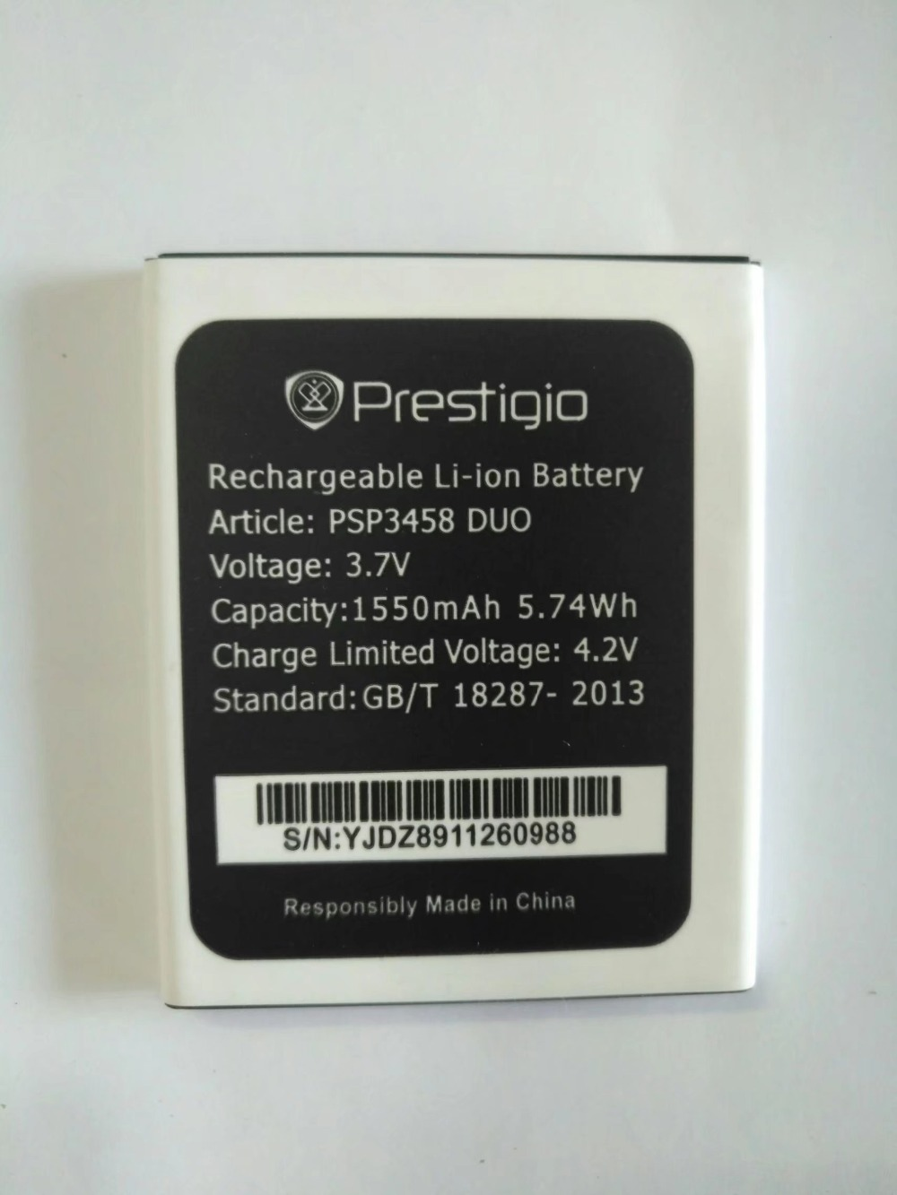 PSP3458 DUO battery for <font><b>Prestigio</b></font> MultiPhone PSP3458 DUO PSP <font><b>3458</b></font> Accumulator Mobile Phone Batteries image
