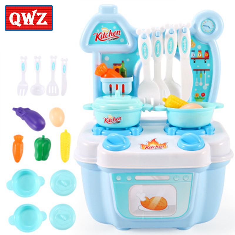 Children's play house girl kitchen toys 1-2-3 years old boys and girls puzzle cooking kitchen utensils simulation tableware