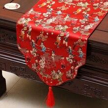 Proud Rose китайская атласная настольная дорожка Tafelloper скатерть настольный флаг с кисточками домашний декор скатерть на заказ
