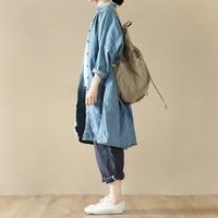 LRCP Spring Autumn Women Casual Ultra Loose Plus Size Boyfriend Style Cotton Denim Shirts