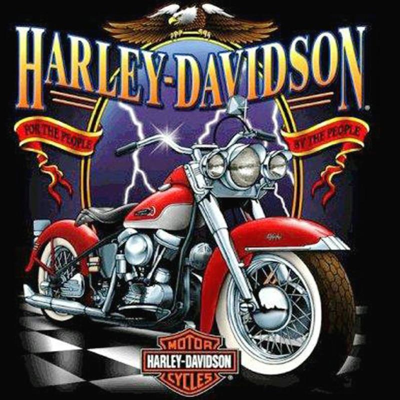 3d diy Diamond Embroidery Harley Davidson full Round Diamond Painting 5d Diamond Cross Stitch Crystal Decoration Moto