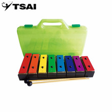 TSAI 8 Notes Xylophone Early Childhood Kids Music Instrument Baby Learning Music Instrument With Plastic Box newest and popular