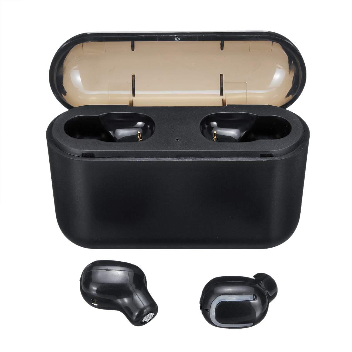 Mini earphone Bluetooth 5.0 Earphones TWS Wireless Stereo Headset Sports In-Ear One/Dual Earbuds 1200/1500mAh Power Bank