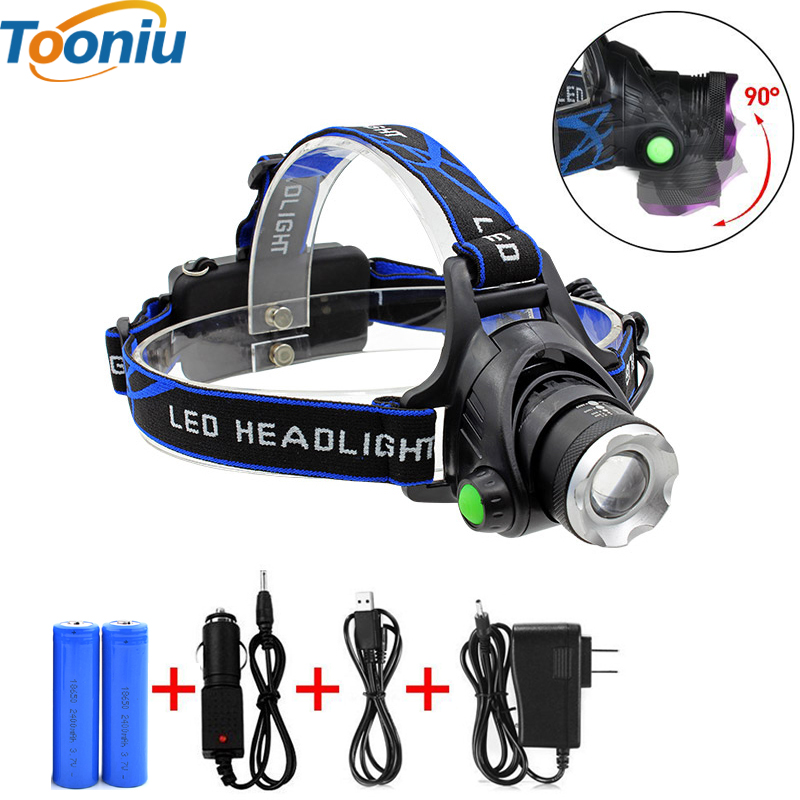 RU 5000LM Cree XML-L2 XM-L T6 Led Headlamp Zoomable Headlight Waterproof Head Torch flashlight Head lamp Fishing Hunting Light