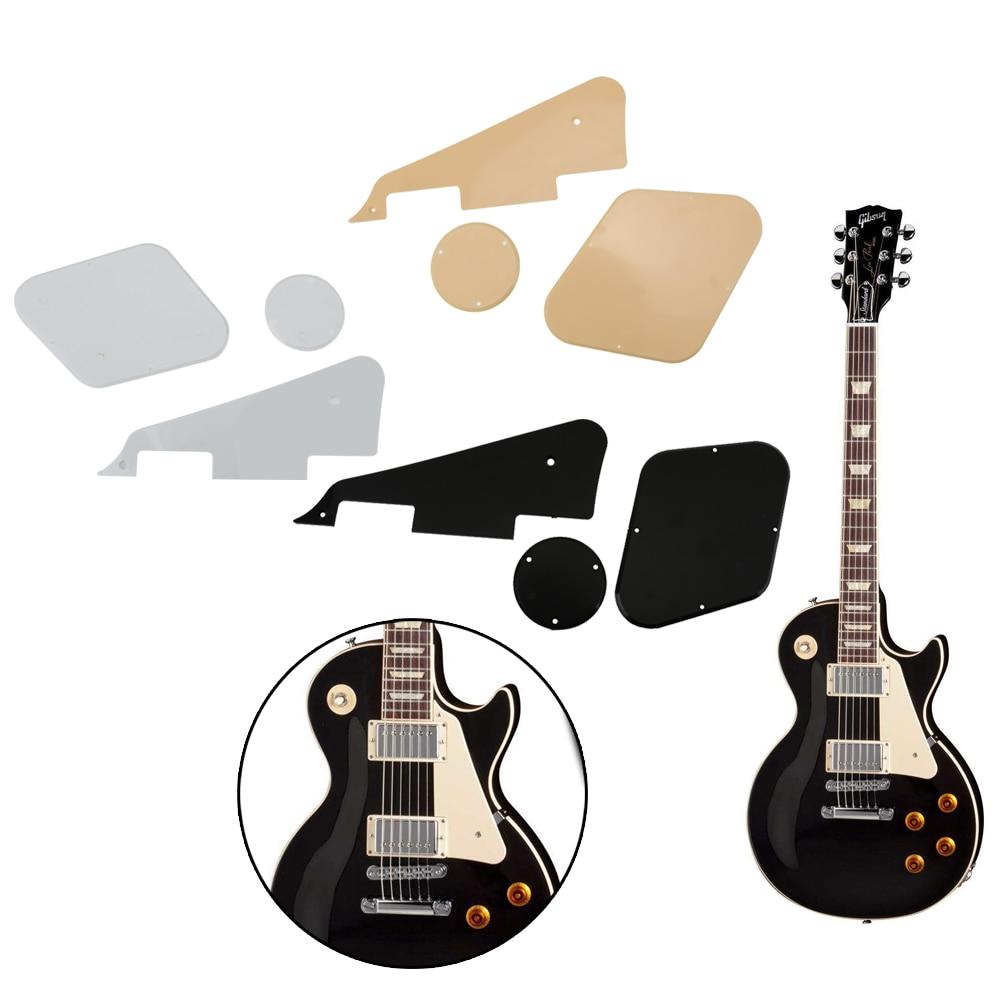 1set guitar pickguard hard plastic front back round plate screws set for electric guitar parts. Black Bedroom Furniture Sets. Home Design Ideas