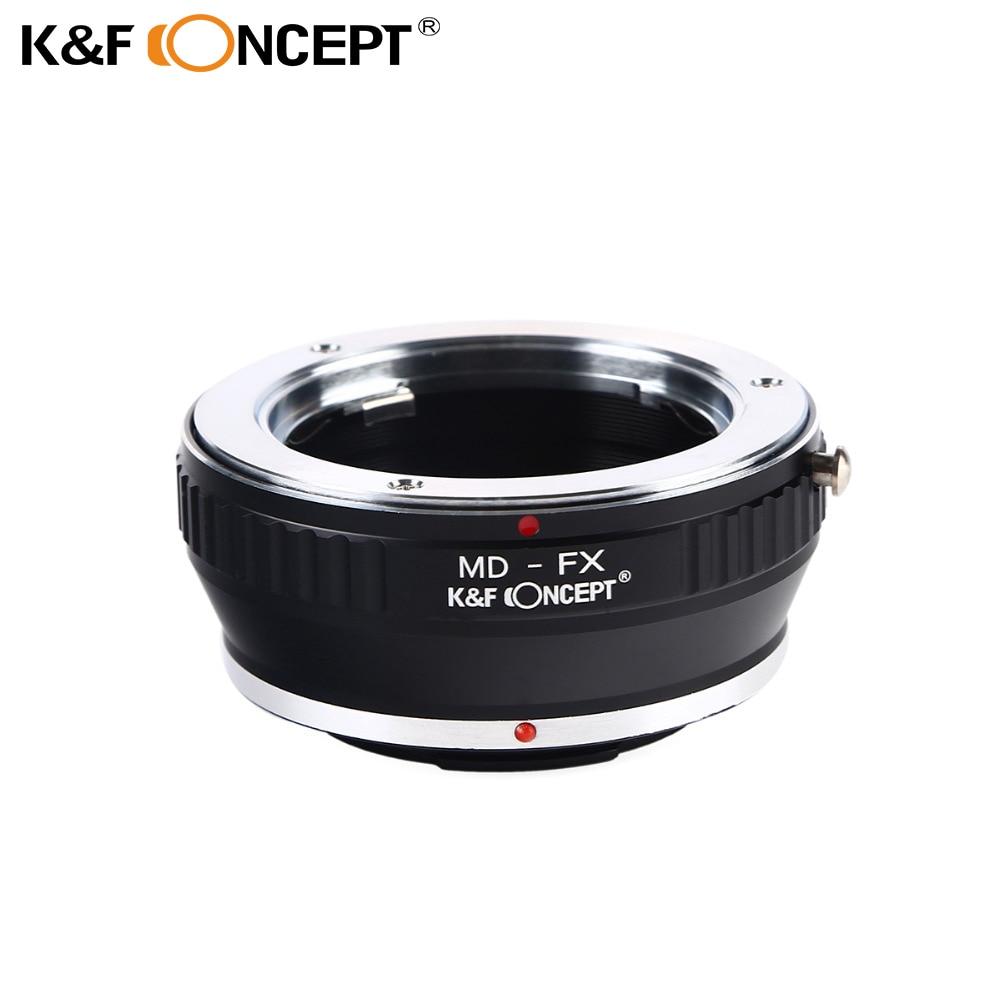 K&F CONCEPTO MD-FX Adaptador de lente Minolta MD Montura de montaje para Fujifilm Fuji X-Pro1 X Pro 1 Anillo adaptador de cámara
