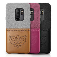New 100 Icarer XOOMZ Brand PU Leather Cloth Cover For Samsung Galaxy S9 Back Phone Case