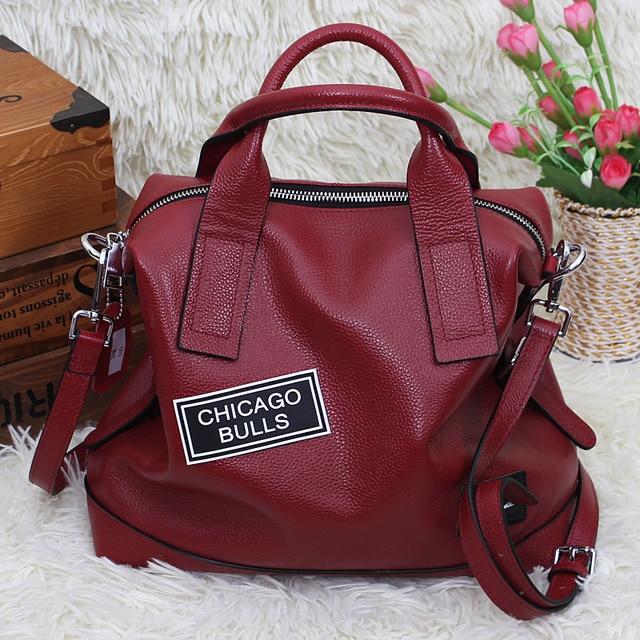 c3ef958b4736 Premium women s designer handbags made of genuine leather shoulder pillow  bag red blue black green grey large female tote bag