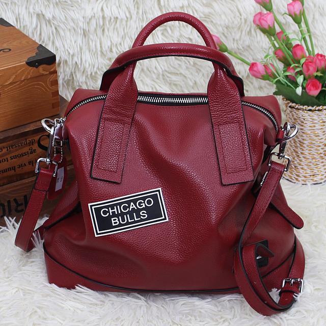 Premium women's designer handbags made of genuine leather shoulder pillow bag red blue black green grey large female tote bag