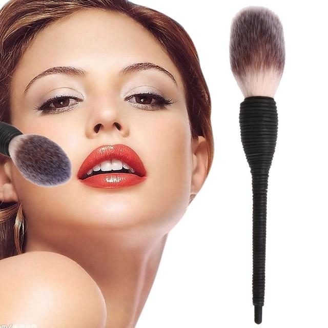 1 Pc Pro Women Kabuki Flat Contour Blusher Powder Foundation Eye Shadow Face Makeup Brush Nature Goat Hair Cosmetic Tools 4