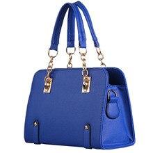 Hot Sale Women Handbag Casual Tote Fashion Pu Leather Shoulder Crossbody Bag High Quality Rivet Solid Clutch Luxury Blue Sac A08