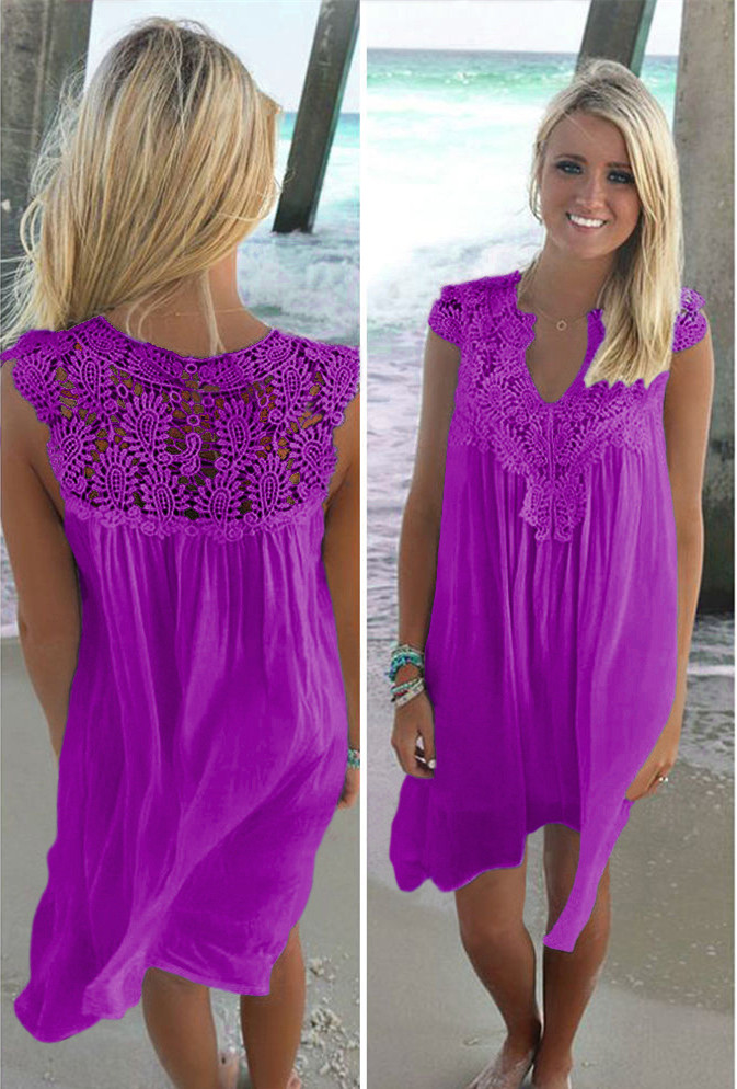 Vestidos Mujer Top Fashion Dress Zanzea Ukraine Vestido Longo New Arrival Plus Size Women Dress Free Shipping 2019 Summer Lace in Dresses from Women 39 s Clothing