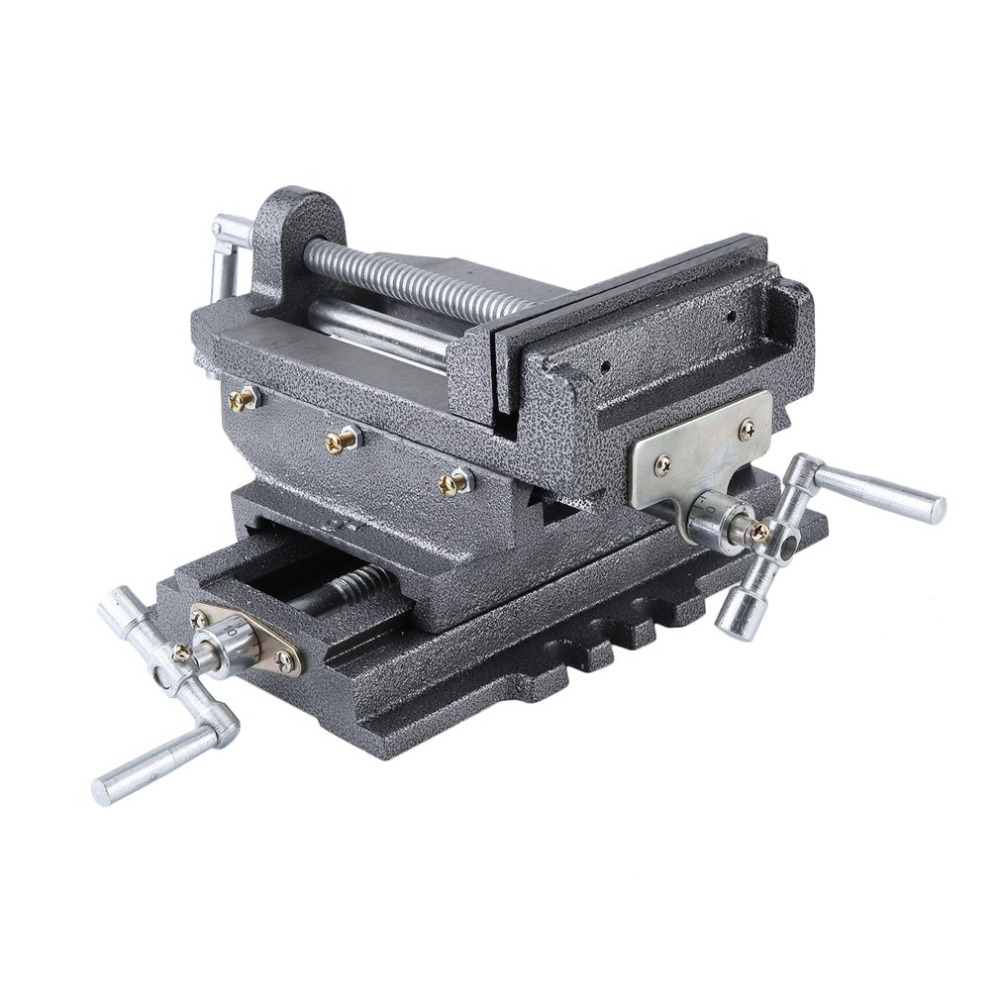 (Ship From DE)Professional 6 Inch Bench Vise Compact Bench Clamp 2-Axles Cross Working Table Vice For Drilling Milling Machine цена