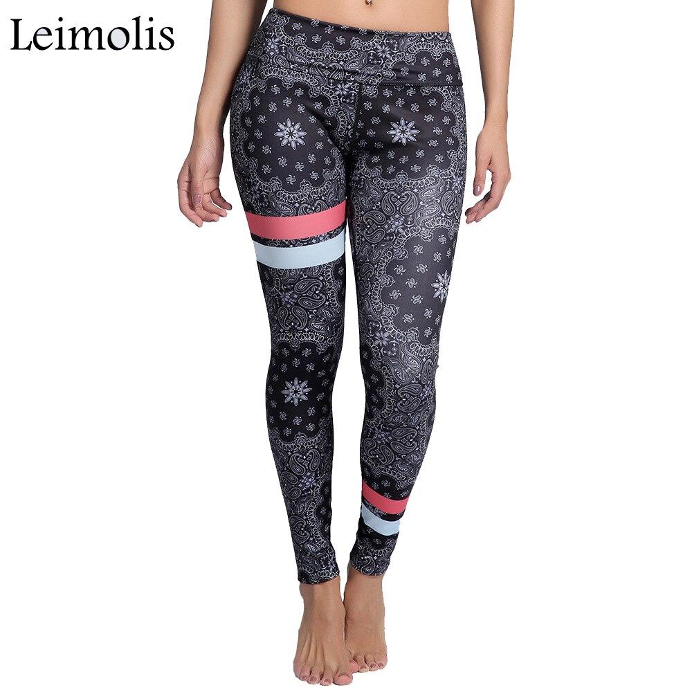 Leimolis 3D print retro Gypsy Floral winter Harajuku High Waist workout push up plus size fitness leggings women pants