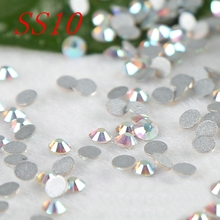 Rhinestone accessories for nails garment  dress Crystal AB SS10 1440PCS/bag Non HotFix Rhinestones