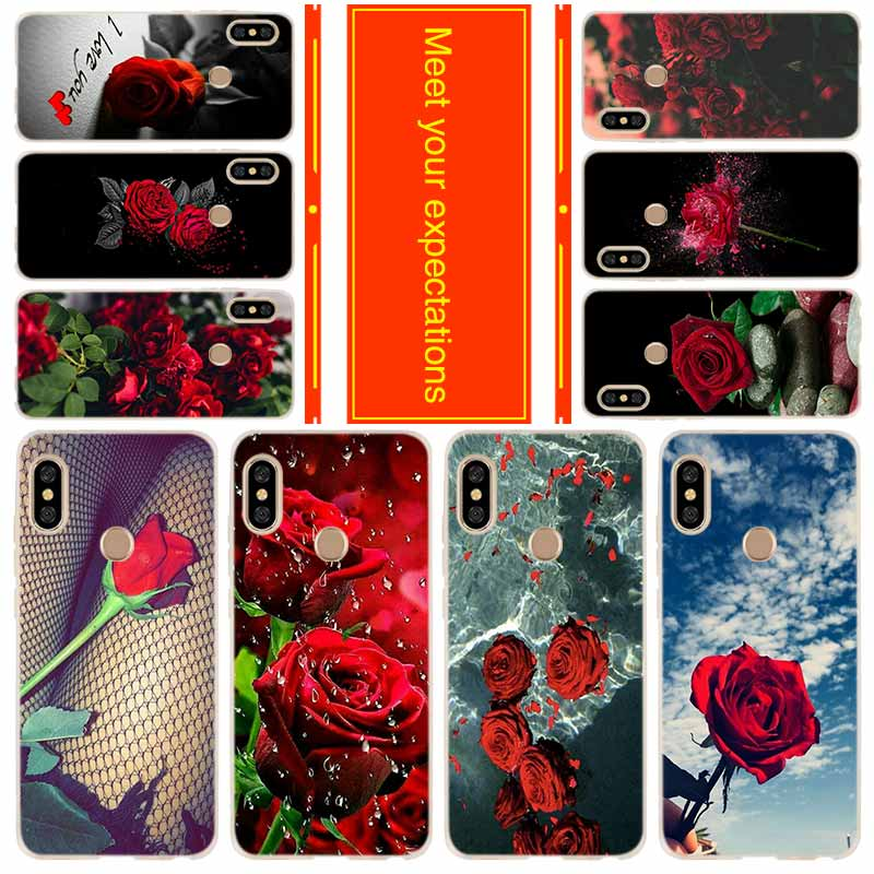 Phone case for Xiaomi Redmi 8a 7a 6a 5a 5plus 4x Note 8 7 6 5 9 5a pro 8t Cover Colorful Red Roses Flowers