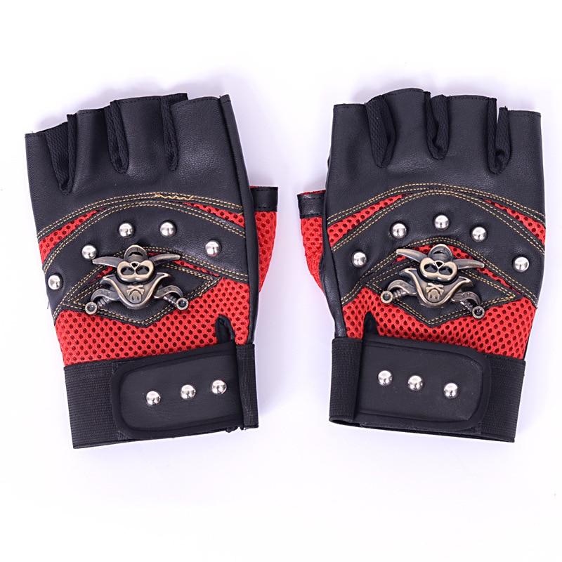 Կաշի մոտոցիկլ Motocross Racing ձեռնոցներ կես - Հեծանվավազք - Լուսանկար 2