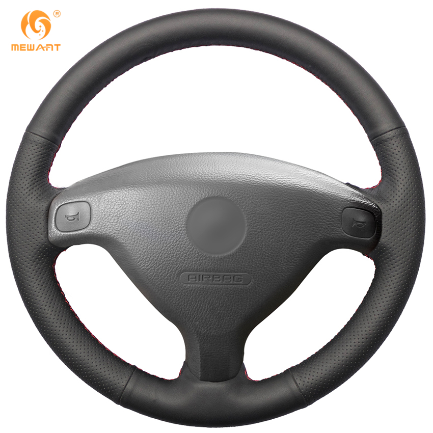 MEWANT Black Artificial Leather Car Steering Wheel Cover for Buick Sail Opel Astra G H 1998-2007 Opel Zafira A 1999-2005