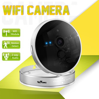 Wireless IP Camera Wifi 1280 720P P2P Card Camera Two Way Voice 10m Night Vision 128G