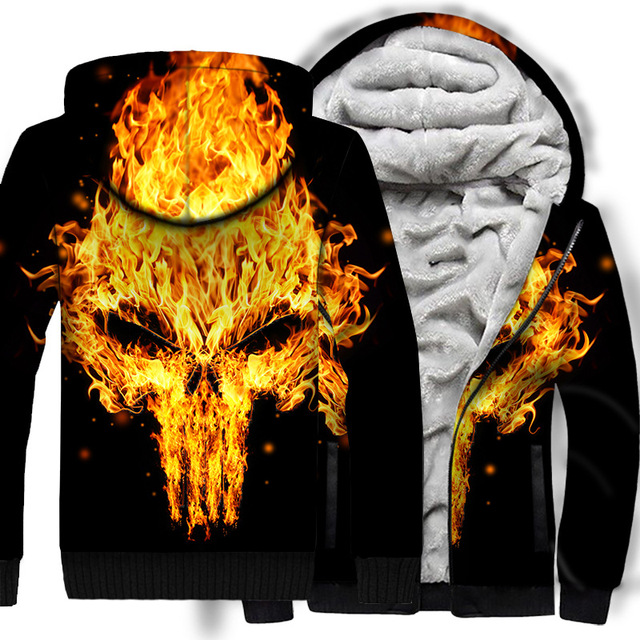 SKULL THEMED ZIP UP HOODIE JACKET (7 VARIAN)