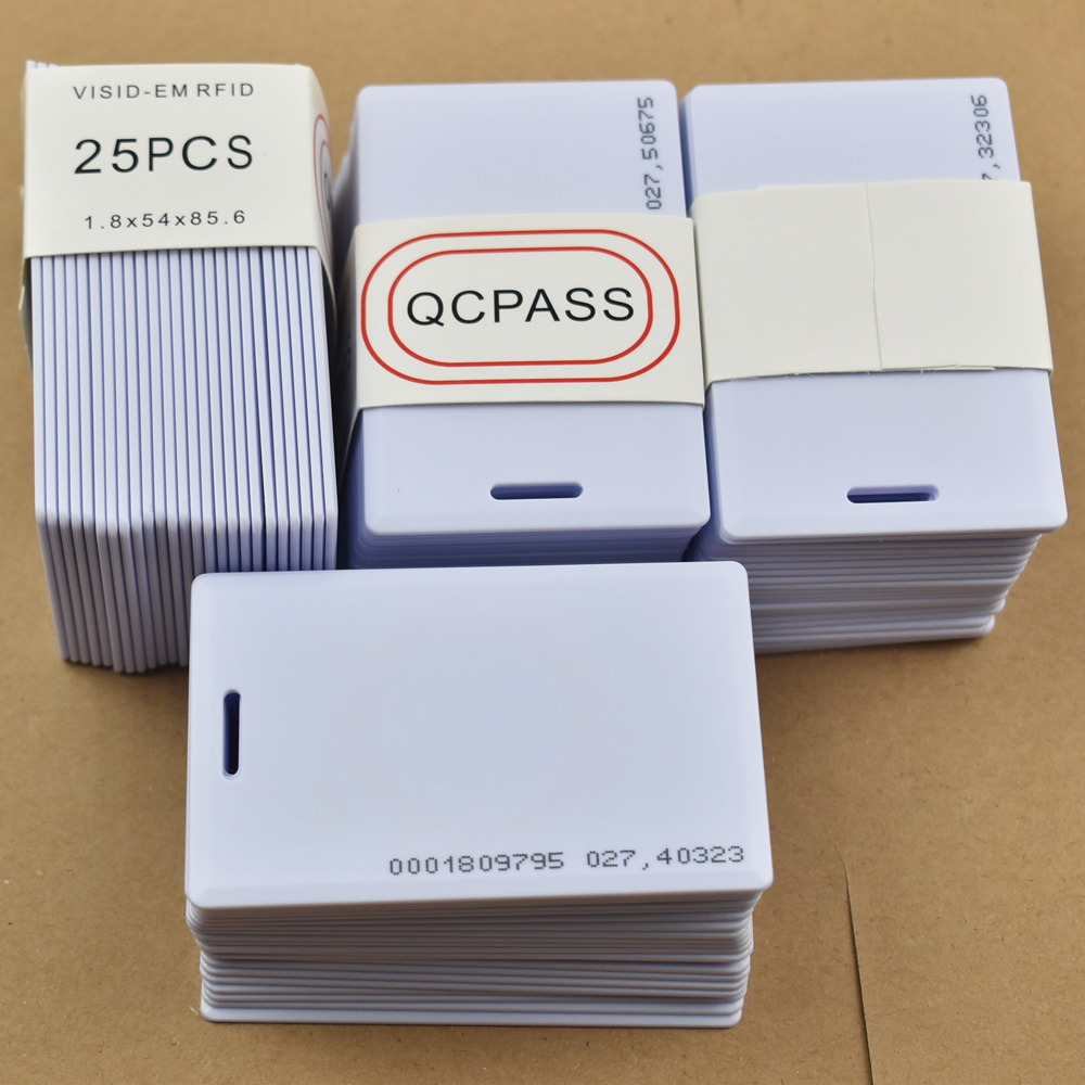 100pcs/lot 125KHz rfid EM ID Thick Card Access Control System card RFID Card with 18 inner code Access Control Cards Security & Protection - title=