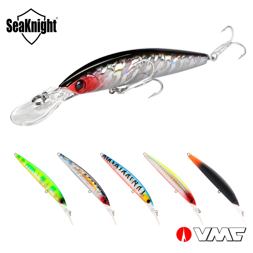 SeaKnight Minnow SK045 Fishing Lure 5Pcs 16.3G 110mm 0-2.5M Floating Lure Jerkbait VMC Hook Wobblers Minnow Long Casting Fishing
