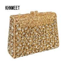 Silber Box Tasche Diamant Frauen Clutch Tasche Kristall Party Handtasche Damen Bankett Geldbörse Mode Pochette Prom abendtasche SC452