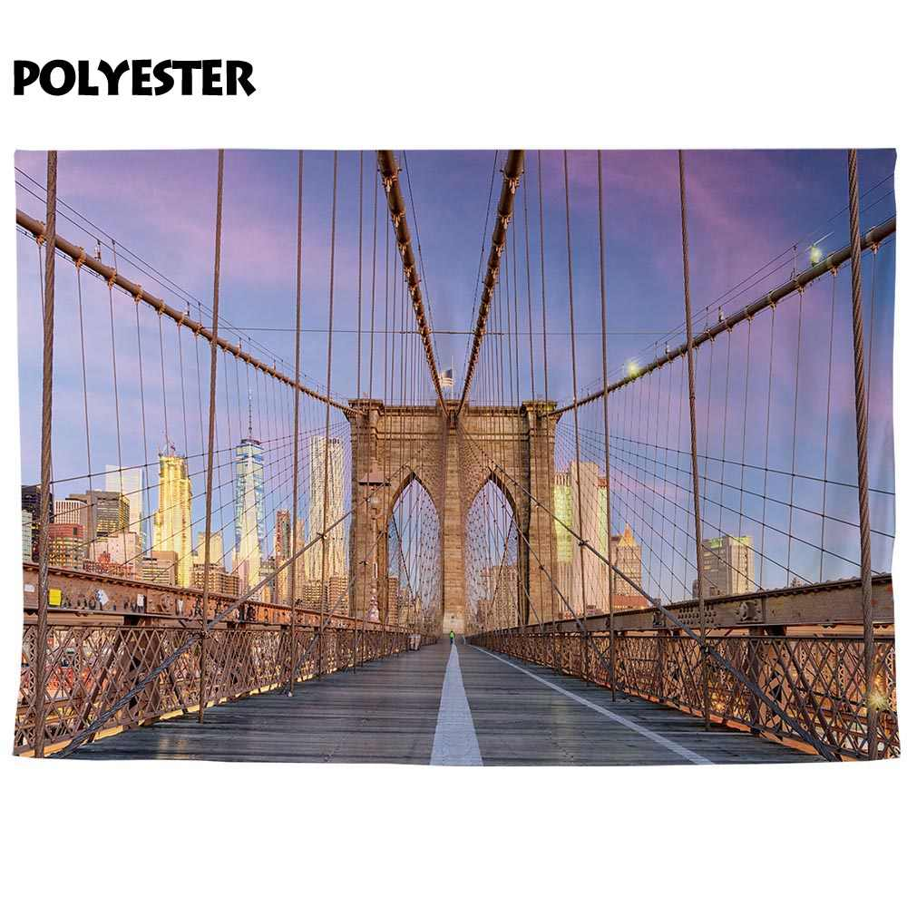 Allenjoy new york brooklyn photography backdrop bridge majestic background  photobooth photo prop decor photocall