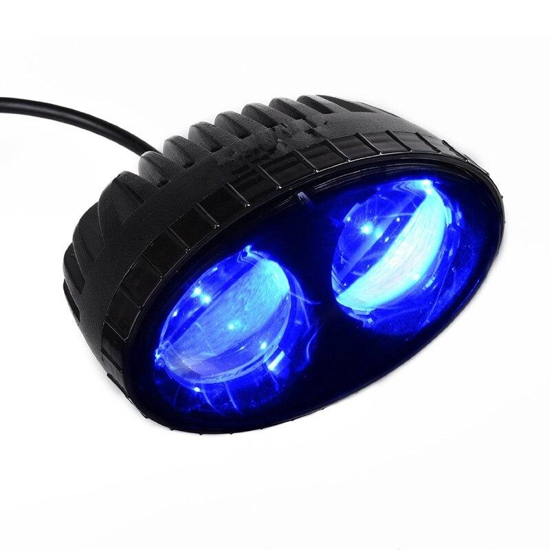 ФОТО 1PCS 10W Blue LED Forklift Safety Light Spot Light Warehouse Safe Warning Light 10-80V LED 550LM