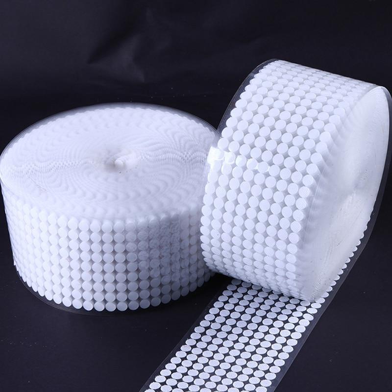 100Pairs Self Adhesive Fastener Dots 10 15 20 25 30mm Strong Glue Magic Sticker Round Hook Loop Tape Snap Button Sewing Tools in Adhesive Fastener Tape from Home Garden