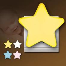 Wall-Lamp Light-Sensor Control Pulg-In-Socket Led-Night-Light Bedside Star Kids Children