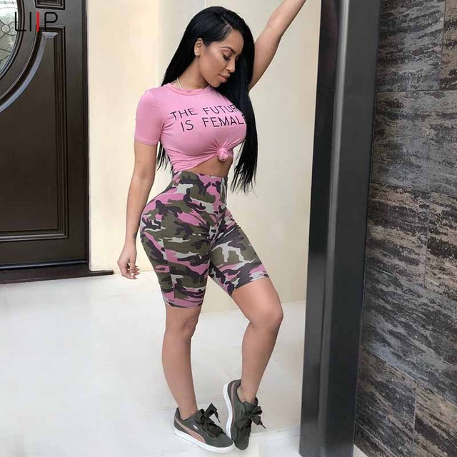 summer 2018 tracksuit women two piece women set LIIP 2 piece crop top and  shorts sets e596a6b95