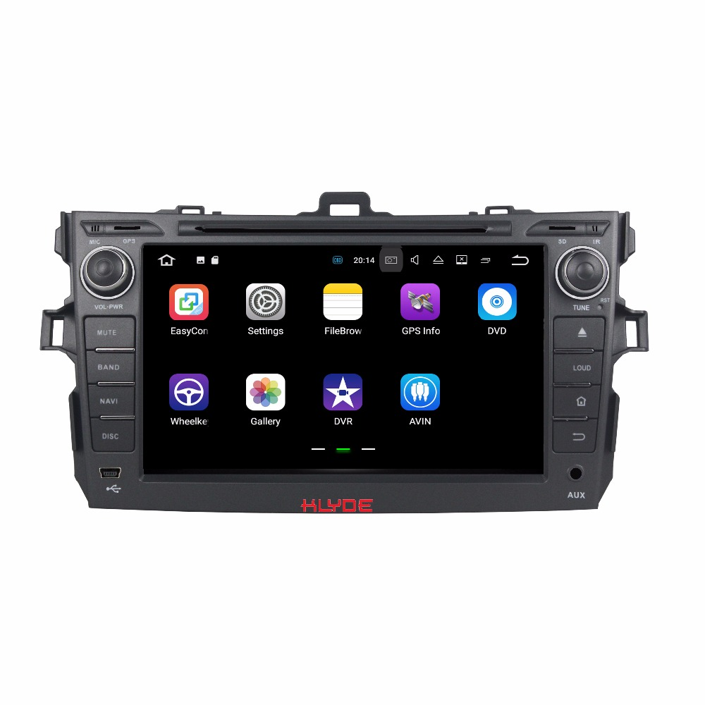 KLYDE 2 Din 8 Android 7.1 Car Multimedia Player For Toyota COROLLA 2006-2011 Car Radio Stereo Quad Core Car DVD Player Audio