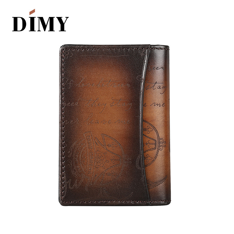 DIMY Famous Handmade Italian Genuine Leather Wallets Men Luxury Scritto Designer ID Credit Card Holders Case 5 Card Slots HotDIMY Famous Handmade Italian Genuine Leather Wallets Men Luxury Scritto Designer ID Credit Card Holders Case 5 Card Slots Hot