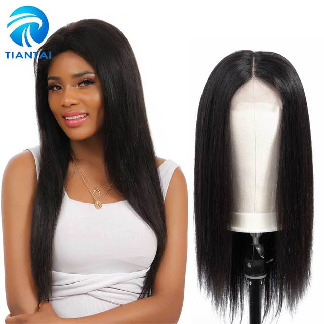 1fa7d28ff 30 inch wig Brazilian 4x4 Closure Wig Lace Human Hair Wigs Long Straight  Remy Free Part Lace Front Wigs for Woman Pre Plucked