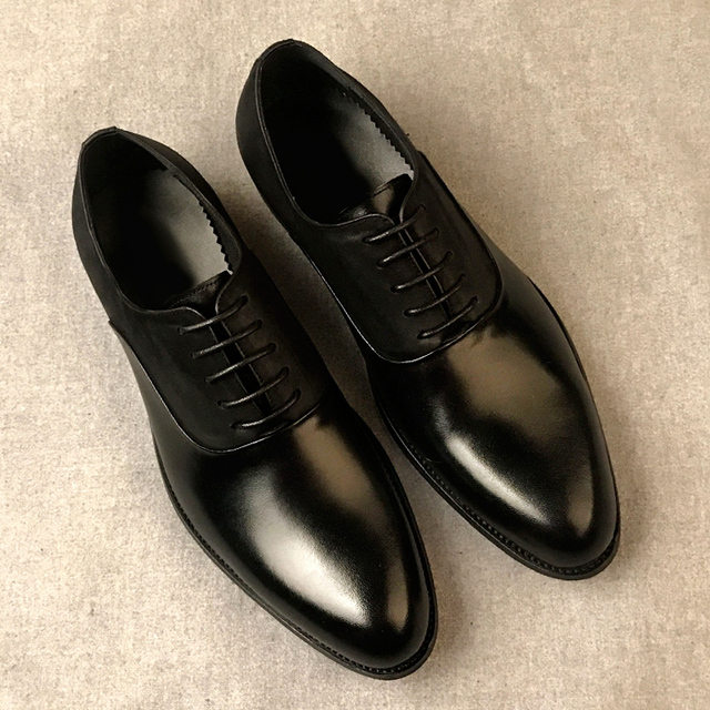 2018 New British Business Elegance Shoes High-end Men's Leather Shoes Paired With Suit Shoes Dress Retro Genuine Leather