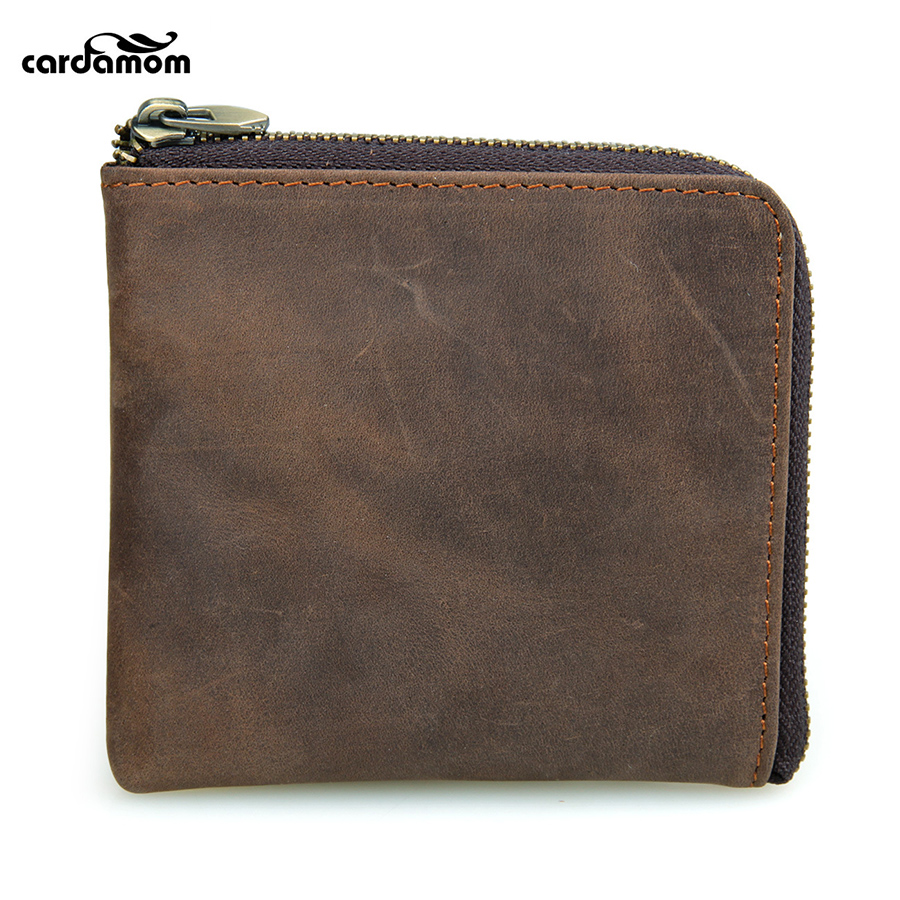 Cardamom Genuine Leather Coin Pocket Women Small Money Purse Mens Wallet Coin Holder Small Wallet for Women/Man