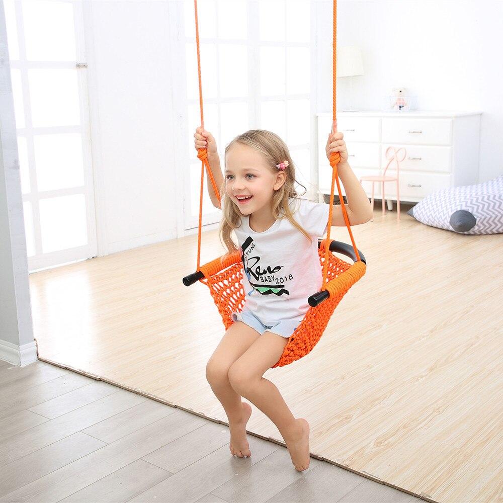 1 pièces d'enfants suspendus chaise balançoire hamac intérieur extérieur Patio chaise balançoire enfant jouets Max portant 300KG - 5