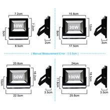 220V LED FloodLight 10W 30W 50W 100W Reflector LED Flood Light Waterproof IP66 Spotlight Wall Outdoor Lighting Warm Cold White