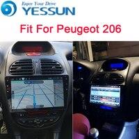 YESSUN для peugeot 206 2005 ~ 2009 Android автомобильный навигатор gps Аудио Видео Радио HD сенсорный экран стерео мультимедийный плеер.