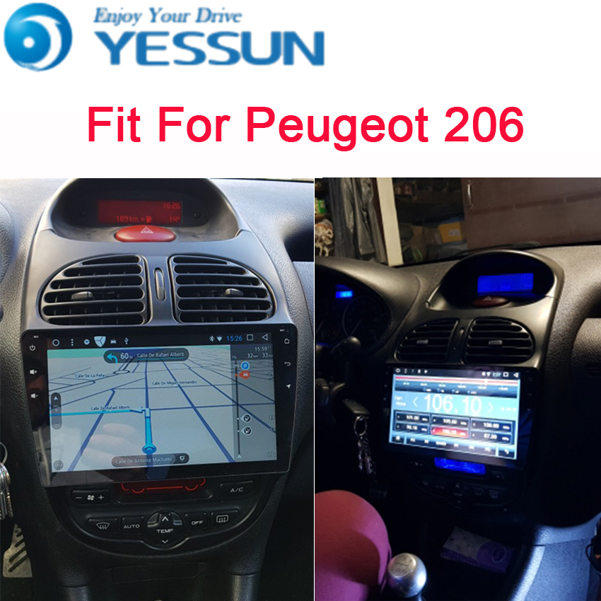YESSUN For Peugeot 206 2005~2009 Android Car Navigation GPS Audio Video Radio HD Touch Screen Stereo Multimedia Player. yessun for mazda cx 5 2017 2018 android car navigation gps hd touch screen audio video radio stereo multimedia player no cd dvd