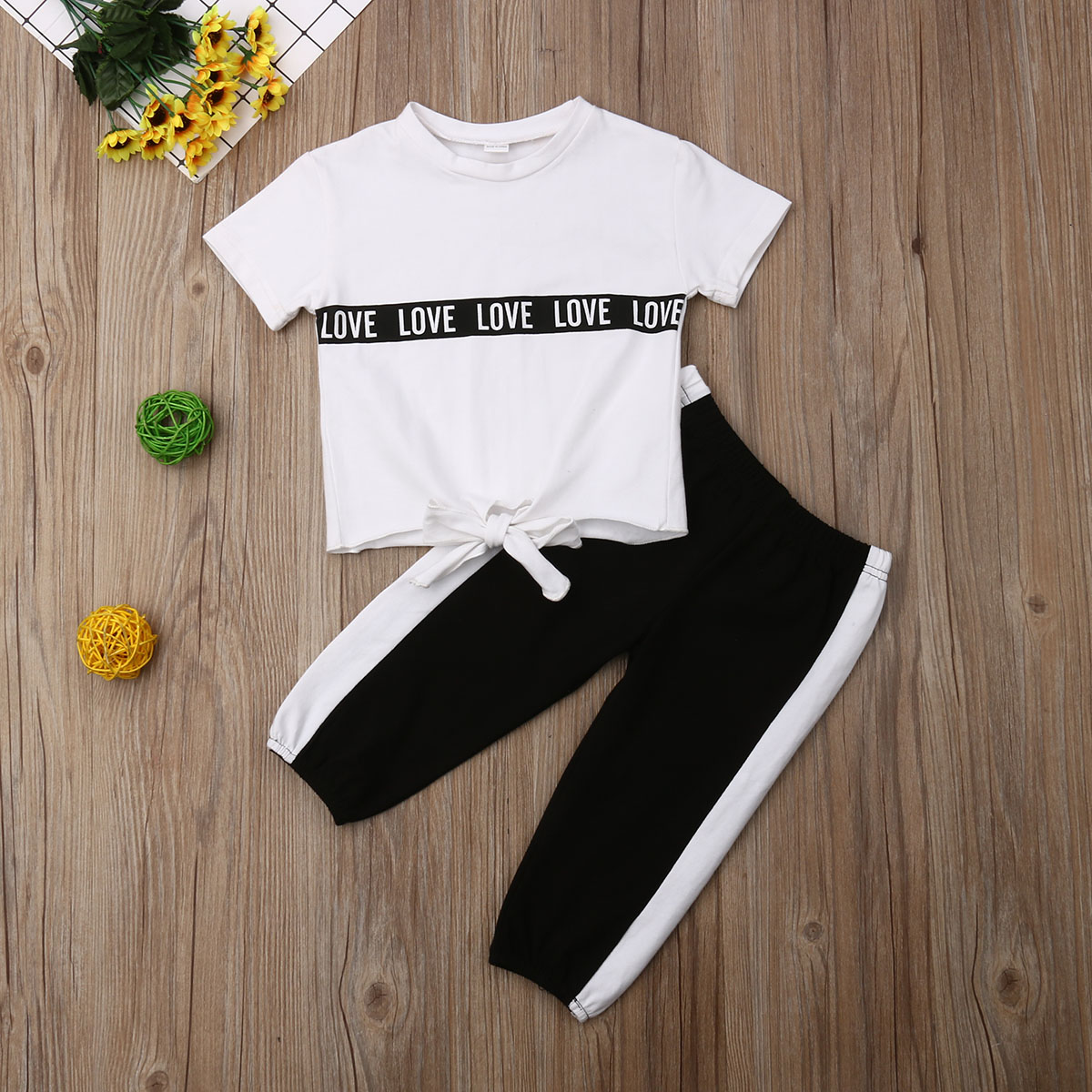 Pudcoco Summer Toddler Baby Girl Clothes Cotton T-Shirt Tops Long Pants 2Pcs Outfits Casual Tracksuit Set