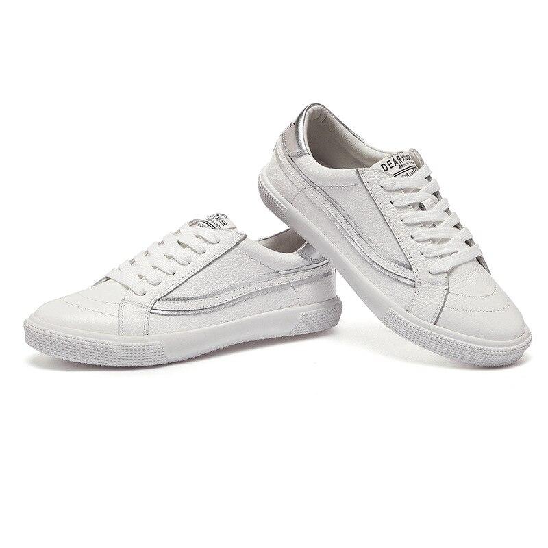 Red La A072 Marca Casuales Transpirable And Blanco Planos White Calidad Genuino Mujeres white Señoras 01 Cuero Zapatos De Alta Los 100 Silver white 01 Las Zapatillas 02 RwpxCTZqq